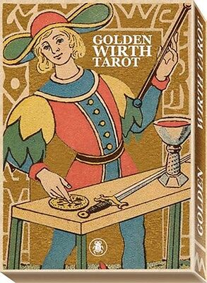 Golden Wirth Tarot Grand Trumps: 22 Full Colour, Gold Embossed Cards (Paperback)