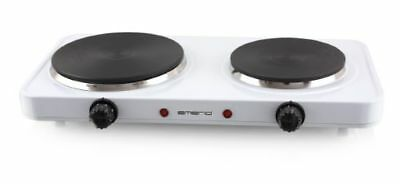 Emerio Double Cooking Plate 2500W doppel-kochplatten HOTPLATE CAMPING COOKTOP WH