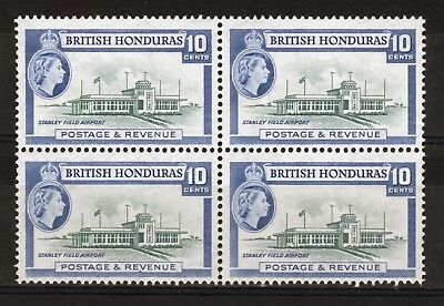 British Honduras Block of four 10 cent stamps from the 1953 definitive set.