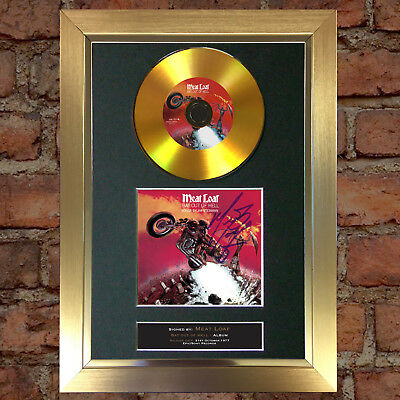 GOLD DISC MEAT LOAF Bat out of Hell Signed Autograph Mounted Photo Repro A4 #89