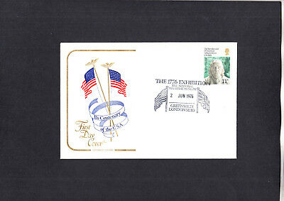 1976 USA Bicentenary Cotswold FDC with 1776 Exhibtion Greenwich H/S