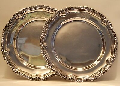 A Rare Pair (2) of Heavy 1835 Dated Paul Storr English Sterling Chargers