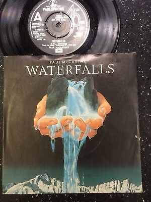 "PAUL McCARTNEY DJ ONLY EDIT.DEMO:""WATERFALLS"".1980 NEAR MINT+PICTURE COVER.RARE!"