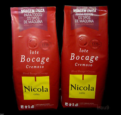Ground Coffee Nicola Creamy Portuguese Portugal & Café 2x 250g,Total 500g 1,1lb