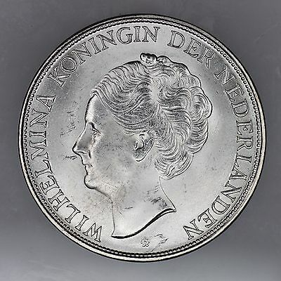 1944 D Curacao 2 1/2 Gulden Silver Coin Uncirculated