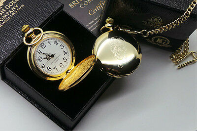 Signed DAVID BOWIE POCKET WATCH 24k Gold Clad Luxury Case Autographed Gift