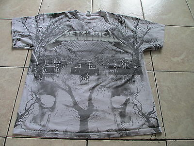 Metallica Master of Puppets Strings Gray Black T Shirt Size L Large XL X-Large