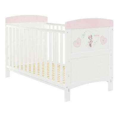 Obaby Disney Inspire Cot Bed - Minnie Mouse (Hearts) - Suitable From Birth