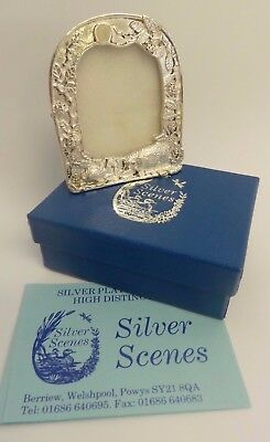 Silver Scenes Bertie & Hettie Hedgehog Silver Plated Photo Frame H 5.5 cm VGC