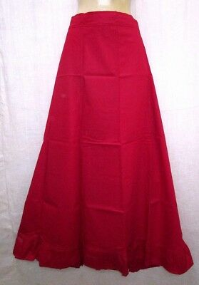 Red Pure Cotton Frill Petticoat Skirt Sari String Fit Buy photo www. NR #FHOSB