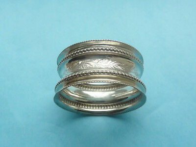 Lovely Antique STERLING SILVER NAPKIN RING - Birmingham 1902