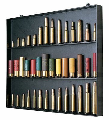 MTM Cartridge Collection Display Board Space For 42 Black Shooting : CBD-1-40