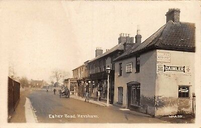 Surrey Hersham Esher Road A Cottrell Boot & Shoe Maker & Adverts Photo Card