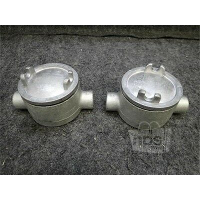 """Lot of 2 GUAC16 Crouse-Hinds Conduit Outlet Box w/Cover, 1/2"""""""