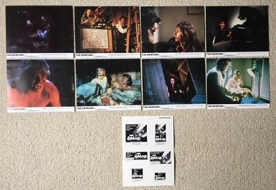 "THE HOWLING. DEE WALLACE.ORIG 8 UK LOBBY CARDS.F.O.H. STILLS.10""x 8""+ADVERT.1981"