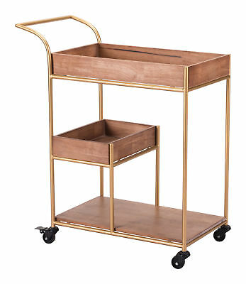 Everly Quinn Vasilos Bar Cart with Tray