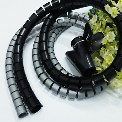 CO_ 15/20/25mm Spiral Cable Wrap Desktop Computer Cable Organizer Wire Protector