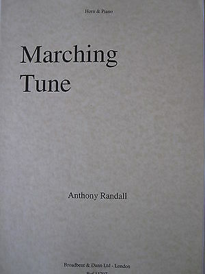 RANDALL A. 'Marching Tune' F  Horn & Piano pub. Broadbent & Dunn