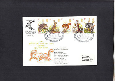 1977 Wildlife Norfolk Naturalists Trust Norwich Official FDC
