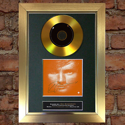 GOLD DISC ED SHEERAN Plus + Album Signed Autograph Mounted Repro A4 #111