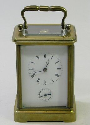 Large Antique Brass Japy Freres Brevette Paris French Carriage Clock