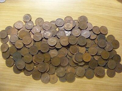A Collection of 200 Wren Farthing Coins - dates  1937 -  1952 - all look ok