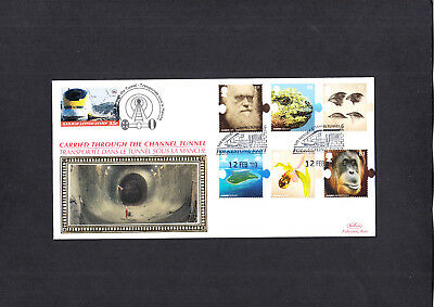 2009 Charles Darwin Benham Channel Tunnel Official FDC