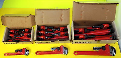 "18 RIDGID Pipe Wrenches - Workshop lot -  6 - 6"", 6-8"" and 6-10"" - All New"