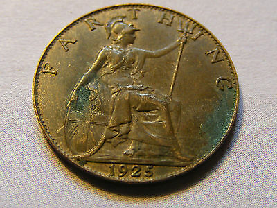1925 George V Farthing Coin  - Nice Condition
