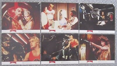 "FLASH GORDON. ORIG 6 UK LOBBY CARDS. F.O.H. STILLS. COLOUR. 10""x 8"".1980. QUEEN"