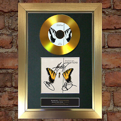 GOLD DISC PARAMORE Brand New Eyes Album Signed Autograph Mounted Repro A4 #119