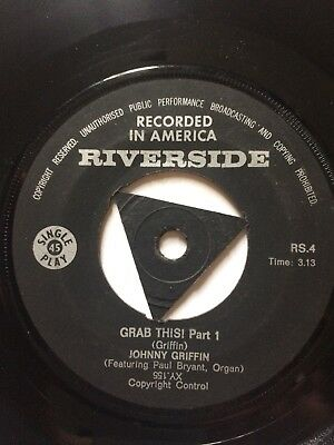 """JOHNNY GRIFFIN:""""GRAB THIS""""PARTS 1&2.1960sSOUTH AFRICAN RIVERSIDE+TRIANGLE CENTRE"""