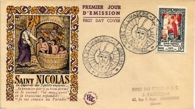 Dr Jim Stamps National Museum Saint Nicolas First Day Issue France Cover 1951