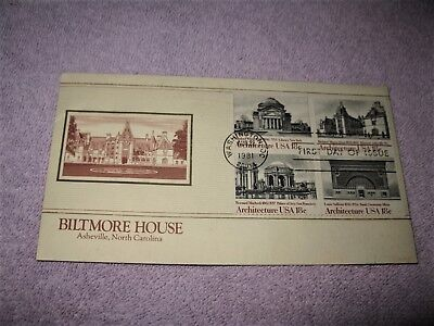 Dr Jim Stamps Us Biltmore House Asheville Architecture Block Cover 1981