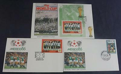 3 Official FIFA First Day Covers Mexico 86 featuring N Ireland stamps  MT40