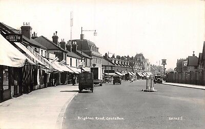 Surrey Coulsdon Brighton Road A23 To London Sign & Delivery Van  Photo Card