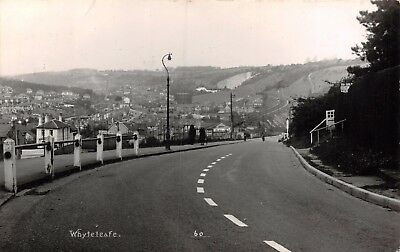 Surrey Whyteleafe View From Main Road Down Hill Railway Track Goods Trucks Card