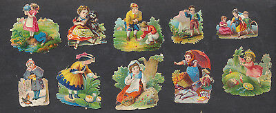 S8305 Victorian Die Cut Scraps: 10 Child Scenes