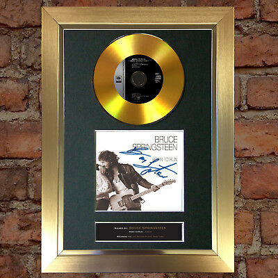 GOLD DISC BRUCE SPRINGSTEEN Born to Run Signed Autograph Mounted Repro A4 #124