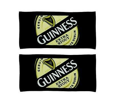 GUINNESS LOGO 2 WOVEN BEER BAR GOLF TOWEL 19x10 NEW