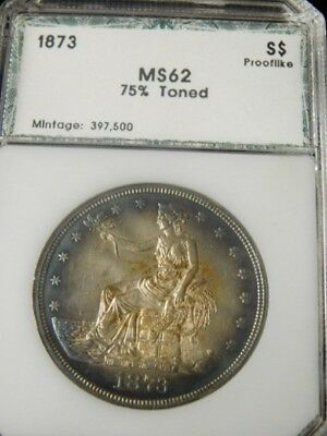 United States 1873 Trade Dollar PROOF LIKE UNC by PCI