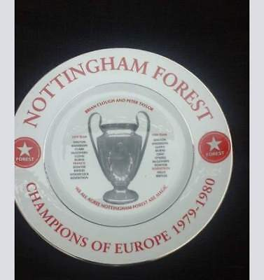 Nottingham Forest champions of europe china plate