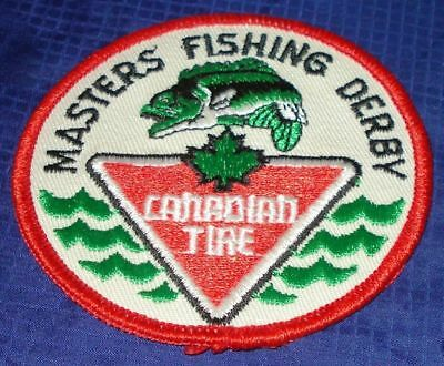 BG685 Vtg CTC Canadian Tire Corp Masters Fishing Derby Patch Crest
