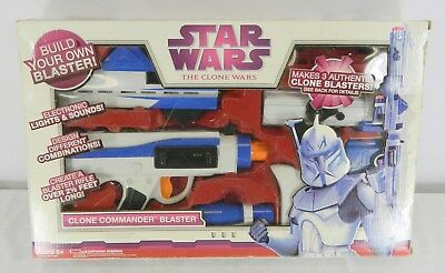 2009 Star Wars Clone Commander Blaster Build Your Own Toy In Original Box