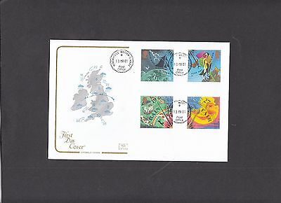 2001 The Weather Cotswold FDC with Windwhistle CDS