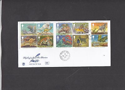 2002 Rudyard Kipling Just So Stories Stuart FDC with Whale Hill CDS