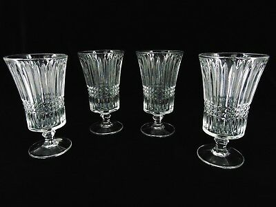 """4 Vintage Tiara Glass Fostoria """"Exclusively Yours"""" Lead Crystal Water Goblets"""