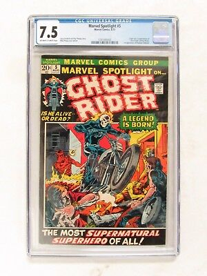 Marvel Spotlight #5 (1972) CGC 7.5 Origin & 1st Appearance of Ghost Rider CS2