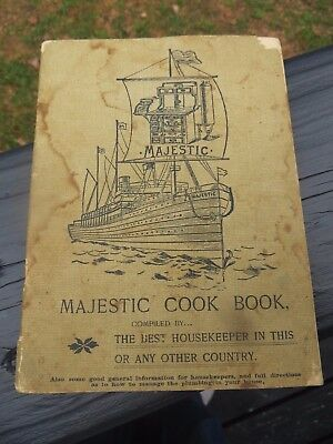 Majestic Stoves Antique Original  Cookbook & All There Old Stoves Pictures