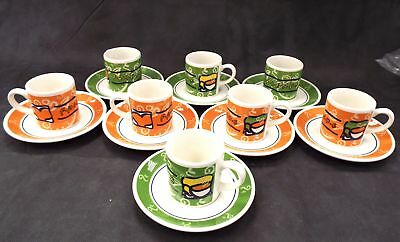 STAFFORDSHIRE TABLEWARE 16 Pieces Friends Espresso Set Made In England - F04